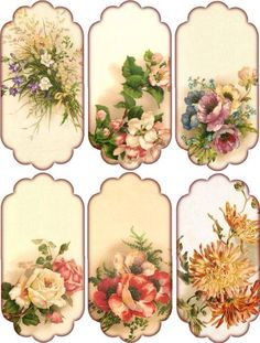 Crafts – Vintage Pieces for Collage/Altered Art – Floral Hang Tags Paper Crafts – Vintage Pieces for Collage/Altered Art – Floral Hang Tags without text.Paper Crafts – Vintage Pieces for Collage/Altered Art – Floral Hang Tags without text. Decoupage Vintage, Vintage Paper, Vintage Tags, Vintage Labels, Vintage Prints, Vintage Floral, Vintage Clip, Vintage Ideas, Shabby Vintage
