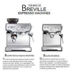 http://bisuzscoffee.com/breville-espresso-machines/breville-espresso-machine-reviews Breville espresso machines are your best choice to get that ultimate cup of espresso whenever you need your caffeine kick to 'run' you!