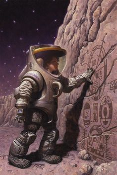 I love that image. Every kid's real dream! To discover the remnants of life on another planet! I hoped they would find something such in 69, when they landed on the moon, in my 10 year old mind... -By Mark Zug