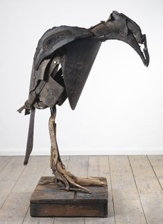 "a-masculine-eclipse: "" Emily Mayer - (via Campden Gallery - Emily Mayer, Out of Context - Corvus corium) "" Metal Art Sculpture, Contemporary Sculpture, Collages, Raven Art, Junk Art, Assemblage Art, Recycled Art, Art Forms, Altered Art"