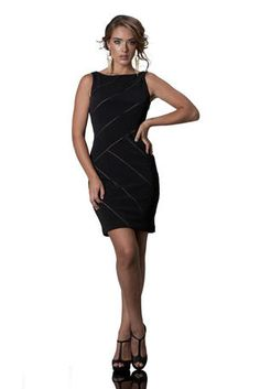 In stock - 863063 Knit spandex dress.  $195