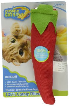 OurPets 100-Percent Catnip Filled Chili Pepper Cat Toy, Hot Stuff ** Want to know more, click on the image. (This is an affiliate link and I receive a commission for the sales)