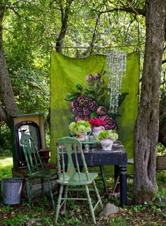 Trendy, bohemian is everywhere! Until the gardens where we want to find this nomadic and romantic spirit. Characterized by a mixture of objects Recycling,