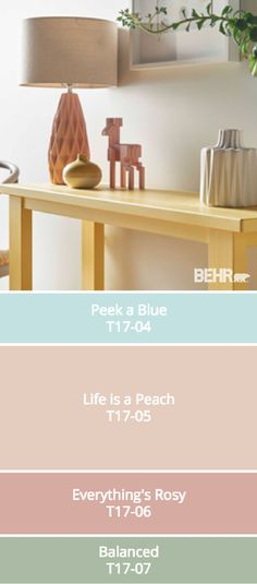 This comfortable color palette from BEHR's collection of 2017 Color Currents is full of soft pastel and neutral shades. Mix and match these modern colors to find the design scheme that's right for you. Check out the rest of the collection to find plenty of design inspiration for your home.