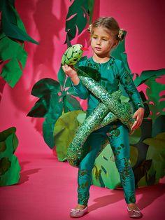 Boy Girl Snake Costume Kids School Book Week Fancy Dress Story Oufit Jungle