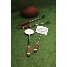 Get ready for the big game with the Football 3PC BBQ Tool Set, available at the Food Network Store.
