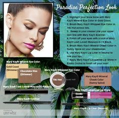 Here's some of Mary Kay's new Paradise Perfection line. Check it out at www.marykay.com/sborkowski