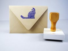 Custom Pet Return Address Stamp by paperpastries on Etsy, $70.00