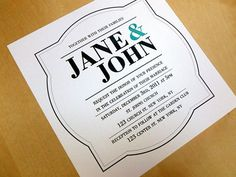Printable Wedding Invitation  Bodoni 2 by creotivo on Etsy, $20.00