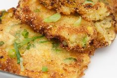 Corn Fritters.  I really want to try this recipe.  It's made with Jiffy Corn Muffin Mix.