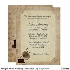 Antique Music Weddin