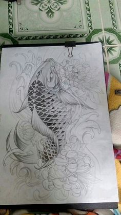 I really appreciate the designs, outlines, and depth. This is definitely an incredible idea if you want a Japan Tattoo Design, Koi Tattoo Design, Japanese Tattoo Designs, Japanese Tattoo Koi, Tattoo Pez, Carp Tattoo, Koi Fish Tattoo, Graffiti Tattoo, Koy Fish Drawing