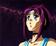The anime character Fuuko Kirisawa is a teen with to neck length purple hair and blue eyes. Flame Of Recca, Golden Age, Anime Characters, Nostalgia, Fandoms, Image, Life, Anime Girl Cute, Fandom