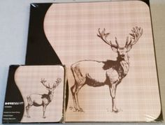6 Vintage Style Stag Highland Table Mats and Coasters New