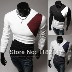 2014 New Arrival Mens Fashion T Shirt  O Neck Long Sleeve t-shirt men's Cotton t shirt Men M~2XL Free Shipping $17.99