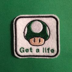 Nintendo 1up Get A Life Ironon Patch by OKsmalls on Etsy, $5.00