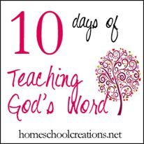10 Days of Teaching God's Word - includes ABC verse flashcards, Bible illustration printables, verse study suggestions and more for children.