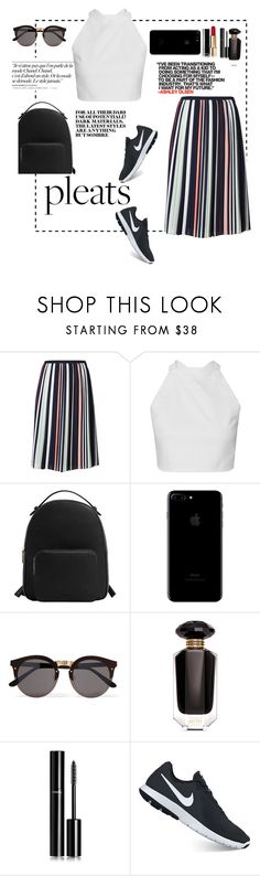 """Untitled #340"" by lillianscollins ❤ liked on Polyvore featuring Olsen, Chanel, Rebecca Minkoff, MANGO, Illesteva, Victoria's Secret, NIKE and pleats"