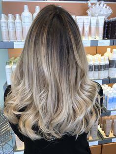 Beige balayage #hairbyashcha #beigebalayage