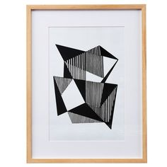 Angled Lines with frame, 180