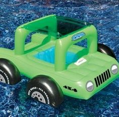 adorable pool Buggy pool float comes with a convertible sun shade top and is available in Green or Pink. Your little ones can drive you nuts in style this summer!