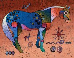 Bob Coonts #Southwestern Symbols #Paintings #Horse Art