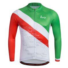 Long Sleeve Cycling Jerseys For Men New Biking Jacket Bike Sports Shirts Reflective Man's Mountain Bike T-shirts Italy
