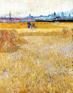 Vincent Van Gogh - Post Impressionism - Arles - Vue de champ de blé