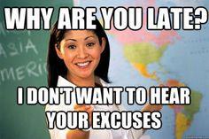 Haha so true! Unhelpful High School Teacher meme!