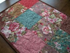 Image detail for -Quilted Patchwork Table Runner Penelope by PatsPassionQuilteds