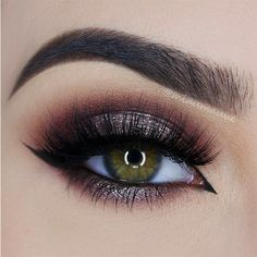 Smokey Eye Looks In 10 Gorgeous Shades ❤ liked on Polyvore featuring beauty products, makeup, eye makeup, eyes and beauty