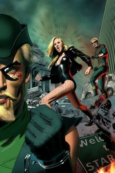 Green Arrow & Black Canary #31 variant cover by Mike Mayhew