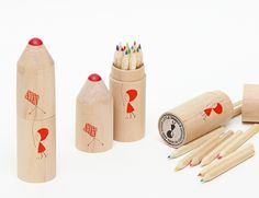 Big Wooden Pencils -  Nina and Other Little Things
