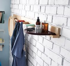 IKEA PS 2014 - Shelves and hooks are great for the things you use every day. A ledge makes a good grooming station and hooks can be used to air out clothes you want to wear again.