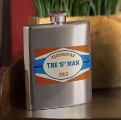 Personalized Private Label Flask Groomsmen Gifts