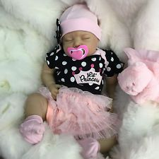 "REBORN DOLLS BABY GIRL NEW PRINCESS 2015 REALISTIC 22"" NEWBORN REAL LIFELIKE"