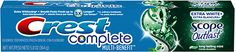 Crest Complete Multi-Benefit Extra White + Scope Outlast - Lasting Mint Toothpaste