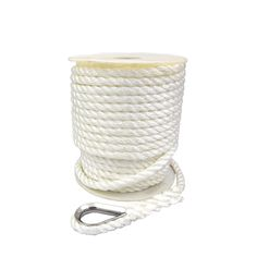 """3/"""" Nautical White Anchor Line Rope Embroidery Patch"""