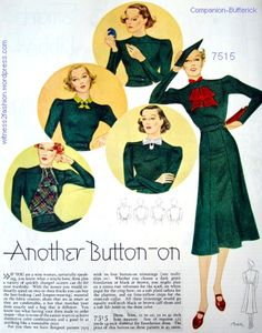 """""""Another Button-on, """" Woman's Home Companion, August 1937"""