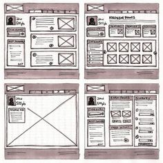 18 Great Examples of Sketched UI Wireframes and Mockups by Web Design Ledger - http://webdesignledger.com/inspiration/18-great-examples-of-sketched-ui-wireframes-and-mockups. If you like UX, design, or design thinking, check out theuxblog.com