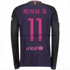 Fodboldtrøjer La Liga Barcelona 2016-17 Neymar Jr 11 Udebanetrøje Langærmede