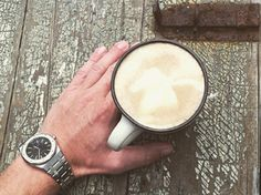 I love coffee, I love Audemars, I love vintage. So this is a nice combination of all of it.