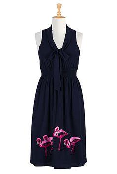 Flamingo lake dress, #eShakti, Customize to your size and style for FREE, $69.95