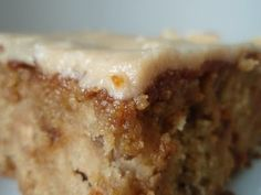 Applesauce Spice Cake with Caramel Frosting  http://asoutherngrace.blogspot.com/2009/12/penuche-with-panache.html
