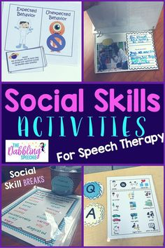 social skill resources for your upper elementary students. Social Skill activities for your students on the Autism spectrum.