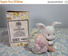 SALE Precious Moments by Enesco Bunny with by BeanzVintiques