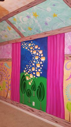 Tangled Room, Rapunzel Room, Disney Playroom, Disney Nursery, Disney Crafts, Disney Art, Cool Boys Room, Tangled Birthday Party, Geek Room