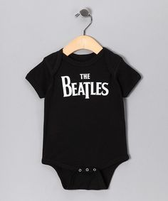 Take a look at this Black 'Beatles' Bodysuit - Infant by With the Band: Kids' Apparel on #zulily today!