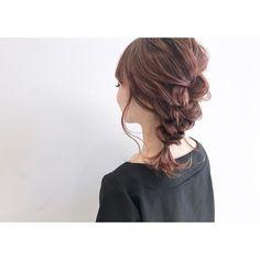 Messy Hairstyles, Pretty Hairstyles, Bangs Updo, Pretty Braids, Hair Arrange, Love Hair, Flowers In Hair, Wedding Makeup, Hair Type