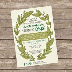 Greek Themed Birthday Party Invite